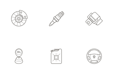 Automotive Parts Icon Pack