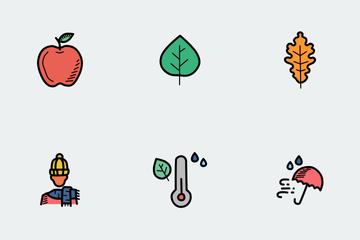 Autumn Doodles Icon Pack