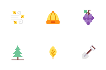 Autumn Flat Colours Icon Pack