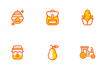 Autumn Two Tone Colours Icon Pack