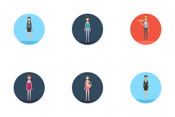 Character Collection Female Icon Pack