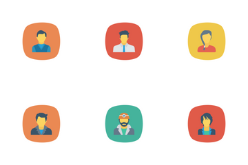 Avatar Flat Circle Rounded Icon Pack