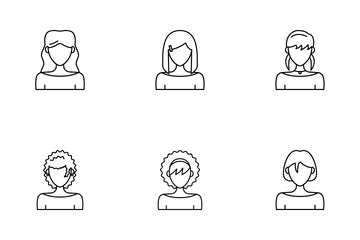 Avatar Woman Icon Pack