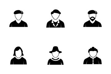 Avatars Glyph Icon Pack