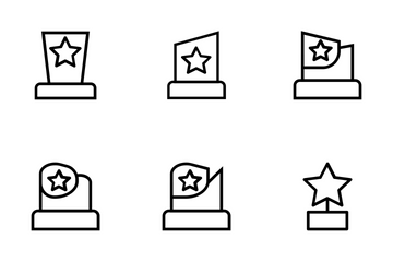 Award And Medal Vector Icons Icon Pack