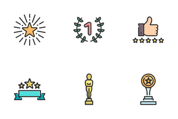 Award And Trophy. Icon Pack