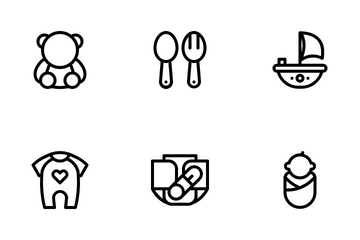 Baby And Kid Toys Icon Pack