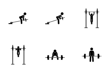 Back Exercise Icon Pack