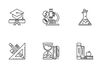 Back To School And Education Icon Pack