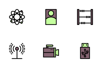 Back To School Filled Line Icon Pack