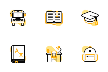 Back To School Shape Colors Icon Pack