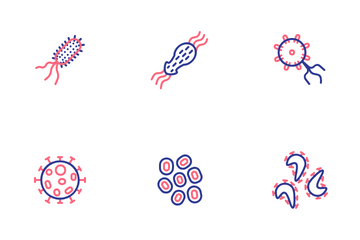 Bacteria And Viruses Icon Pack