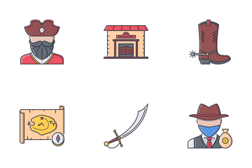 Bad Boys Filled Outline Icon Pack