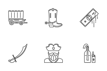 Bad Boys Outline Icon Pack