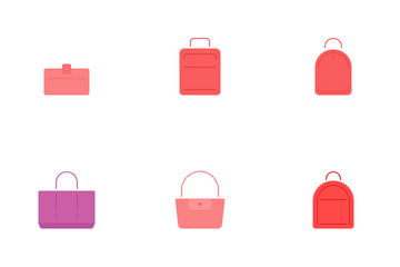 Bag Flat Icons Icon Pack