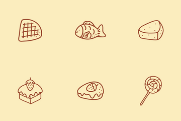 Bakery And Dessert Icon Pack
