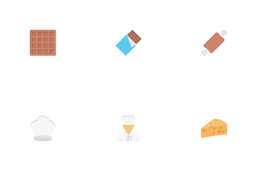 Bakery And Sweets Icon Pack