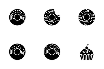 Bakery Items - Glyph Icon Pack