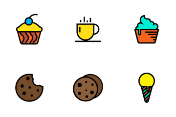 Bakery Items - Lineal Color Icon Pack