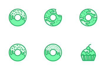 Bakery Items - Mono Lineal Icon Pack