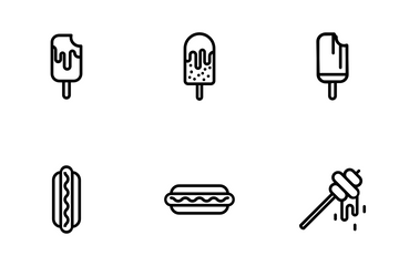 Bakery Items - Outline Icon Pack