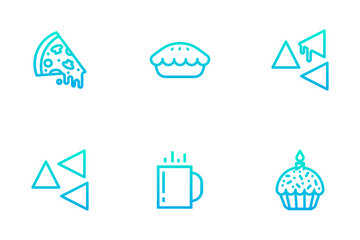 Bakery Items - Outline Gradient Icon Pack
