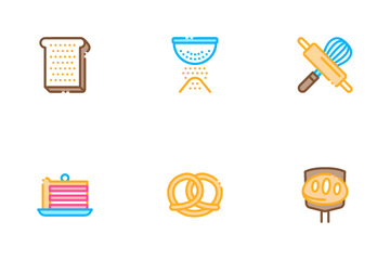 Bakery Tasty Food Icon Pack