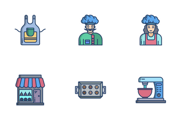 Baking And Bakery Icon Pack