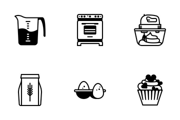 Baking (glyph) Icon Pack