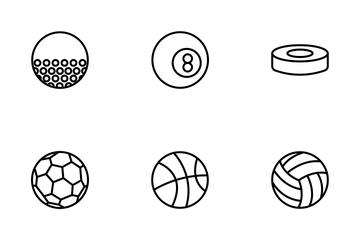 Balls Outline Icon Pack