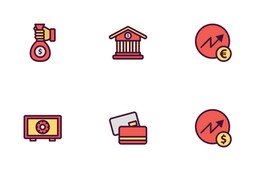 Bank Icon Filled Outline Icon Pack