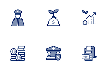 Banking Chromatic Icon Pack