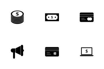 Banking Glyph Icon Pack