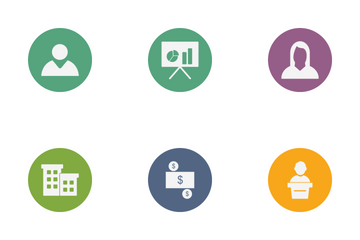 Banking Glyph Circle Icon Pack