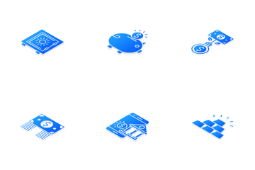 Banking Isometric Icon Pack