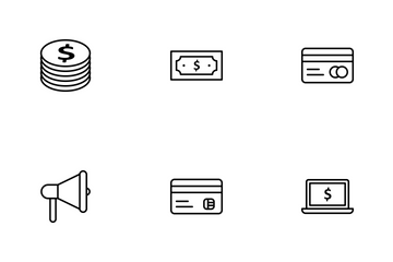 Banking Outline Icon Pack