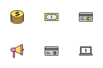 Banking Outline Filled Icon Pack