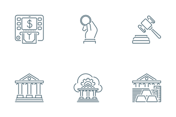 Banking Service Icon Pack