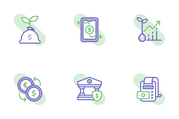 Banking Shape Colors Icon Pack