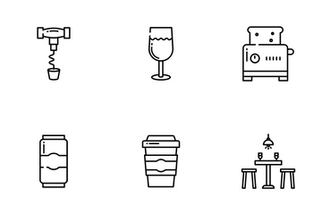 Bar And Restaurant Icon Pack