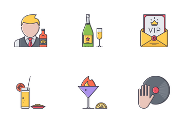 Bar Filled Outline Icon Pack