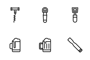 Bar - Outline Icon Pack