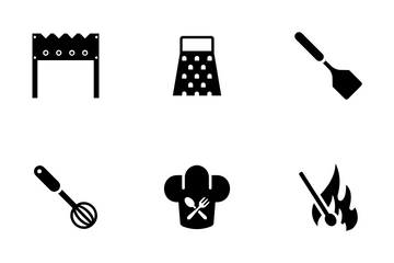 Barbecue Grilling Icon Pack