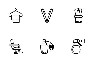 Barber Shop And Salon Icon Pack