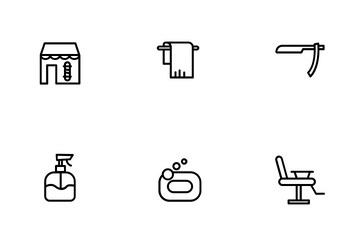 Barbershop And Salon Icon Pack