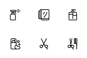 Barbershop & Hairdressing Icon Pack