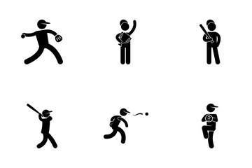 Baseball Player Icon Pack