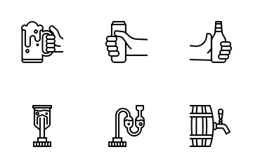 Basic Element Of Beer Icon Pack