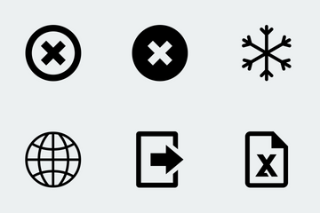 Basic Office Snippets Icon Pack