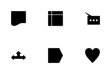 Basic Shapes Glyph Icon Pack